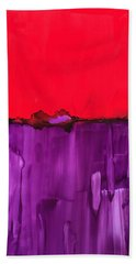 Red Above Purple Beach Towel