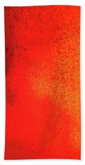 Red Abstract Paint Drip Beach Towel