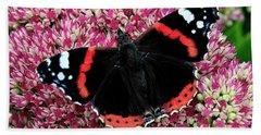 Red Admiral Butterfly Vanesa Atalanta Beach Towel