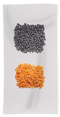 Red And Black Lentils Beach Towel