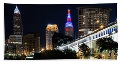 Beach Sheet featuring the photograph Red And Blue In Cleveland by Dale Kincaid