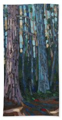 Red And White Pines Beach Towel