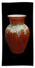 Red And White Vase Beach Sheet
