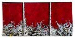 Red And White Widow # 2 Beach Sheet