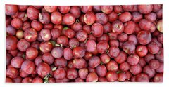 Red Apples Background Beach Towel