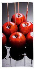 Red Apples With Caramel  Beach Towel