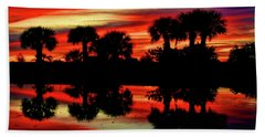 Red At Night Beach Towel