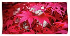 Red Autumn Beach Sheet