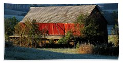Beach Towel featuring the photograph Red Barn by Douglas Stucky