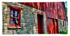 Red Barn In The Shade Beach Towel