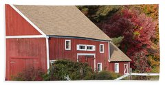 Red Barn Beach Towel by Jim Gillen