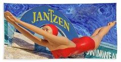 Red Bathing Suit Beach Towel