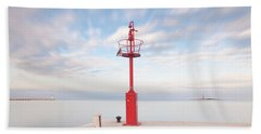 Red Beacon Beach Towel