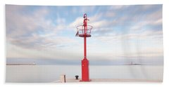 Beach Towel featuring the photograph Red Beacon by Davor Zerjav