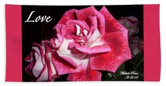 Red Beauty 3 - Love Beach Towel