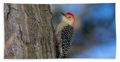 Red-bellied Wodpecker 3 Beach Towel