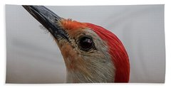 Beach Towel featuring the photograph Red-bellied Woodpecker by Norman Peay