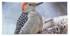 Red-bellied Woodpecker Beach Towel by Patti Deters