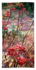 Red Berries Beach Towel