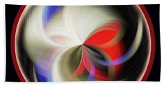 Beach Sheet featuring the photograph Red Black Orb by Judy Wolinsky