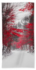 Red Blossoms  Beach Sheet