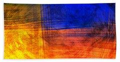 Red Blue Scratch  Beach Sheet