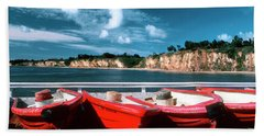 Red Boat Diaries Beach Towel