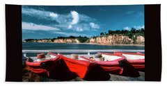 Red Boat Diaries Beach Towel