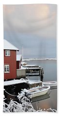Boathouses Beach Towel