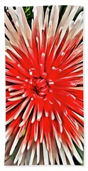 Red Burst Beach Towel