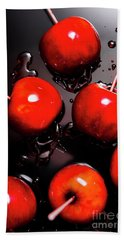 Red Candy Apples Or Apple Taffy Beach Towel
