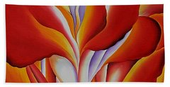 Red Canna Beach Towel