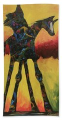 Red Canyon Warrior Beach Towel
