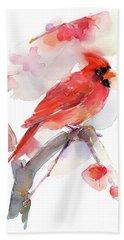 Red Cardinal Beach Towel