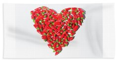 Red Chillie Heart II Beach Towel