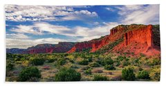 Red Cliffs Of Caprock Canyon Beach Towel