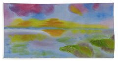 Beach Towel featuring the painting Cherry Sunset by Meryl Goudey