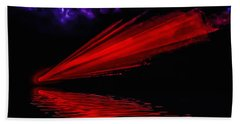 Beach Towel featuring the photograph Red Comet by Naomi Burgess