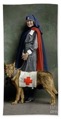 Beach Towel featuring the photograph Red Cross Nurse by Granger