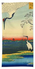 Red Crowned Cranes 1857 Beach Towel