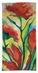 Red Delight Beach Towel