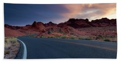 Red Desert Highway Beach Towel