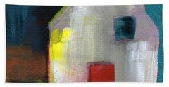 Red Door- Art By Linda Woods Beach Towel