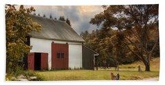 Beach Sheet featuring the photograph Red Door Farm by Robin-Lee Vieira
