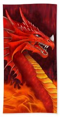 Red Dragon Terrifier Beach Towel