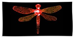 Red Dragonfly Beach Sheet