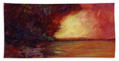 Red Dusk Beach Towel