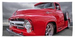 Red F-100 Beach Towel
