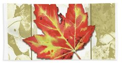 Red Fall Beach Towel