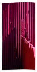 Red Fence And Wall Beach Towel